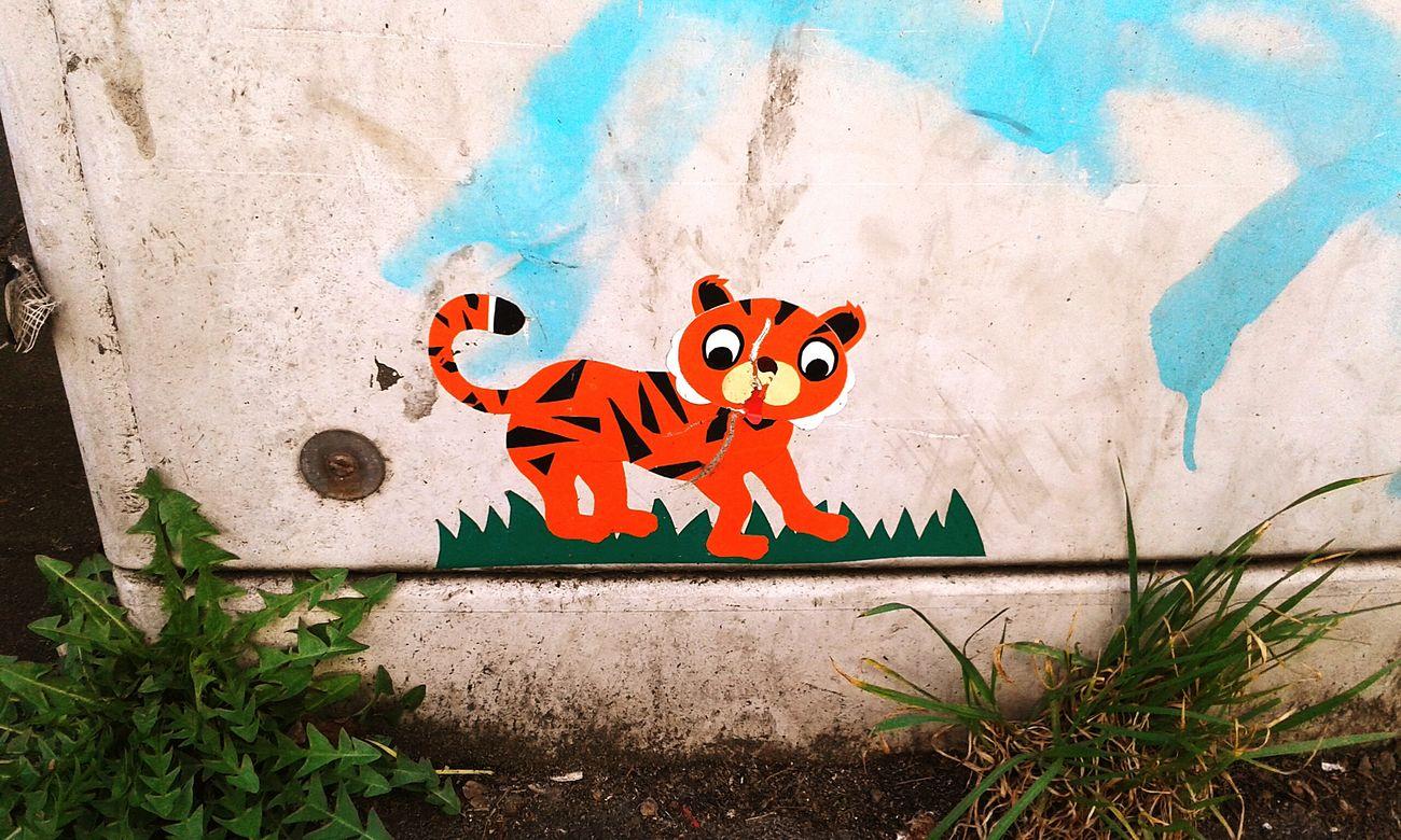 Düsseldorf Streetart Awesome Tiger Baby