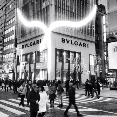 blackandwhite at Ginza Shopping Street by Deandre Scott
