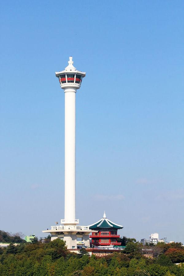 Yongdusan tower in Busan ASIA Busan Korea Korean Landmark Park Pusan Taking Photos Tour Tourism Tower Yongdusan