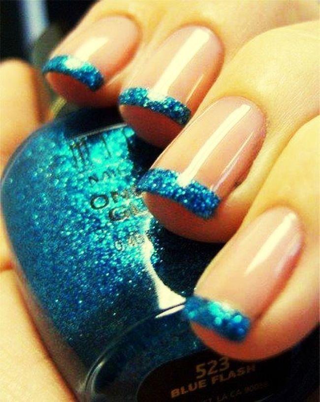 Nails Beauty Blue Manicure!