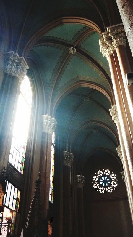 Church Architecture Religion Architectural Column Window Saint Antuan Kilisesi