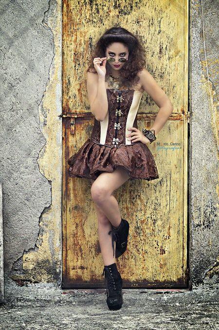 Steampunk Portrait Fashion Style Steampunk Girl Steampunk Style Steampunk Photography Sexygirl Amazing Eyes Corset Legs