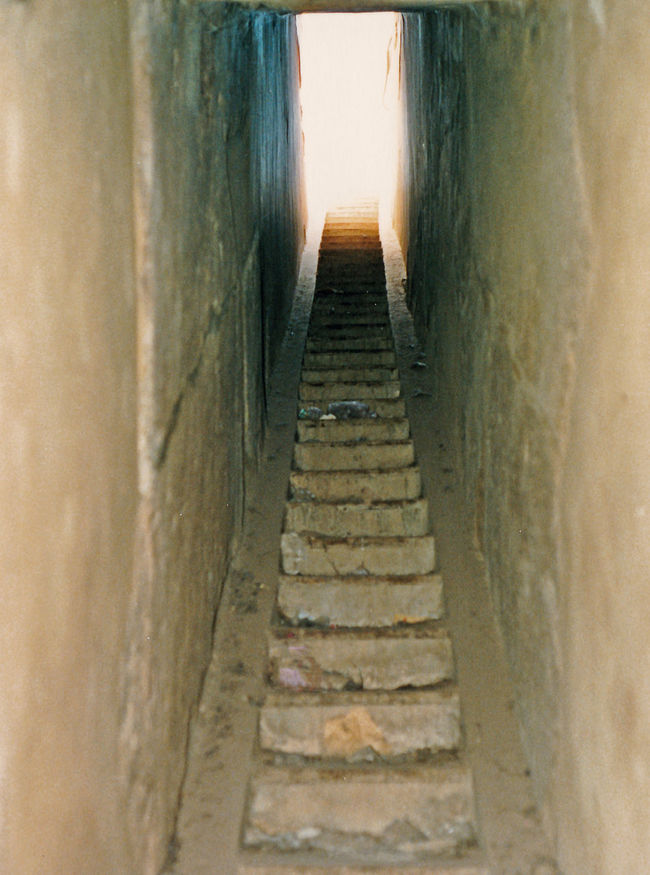 This view of the steps leading up to the roof of the temple has never before been seen, as it is closed to all tourists and locals alike. - Great Temple of Amun, Karnak, Luxor, Egypt Architecture Beach Nature Light At The End Of The Tunnel Day Stairway To Heaven Outdoors Sand Close-up Karnak Temple No People The Way Forward Temple Roof Luxor, Egypt Steps Leading Up Temple Of Amun Karnak Narrow Walls