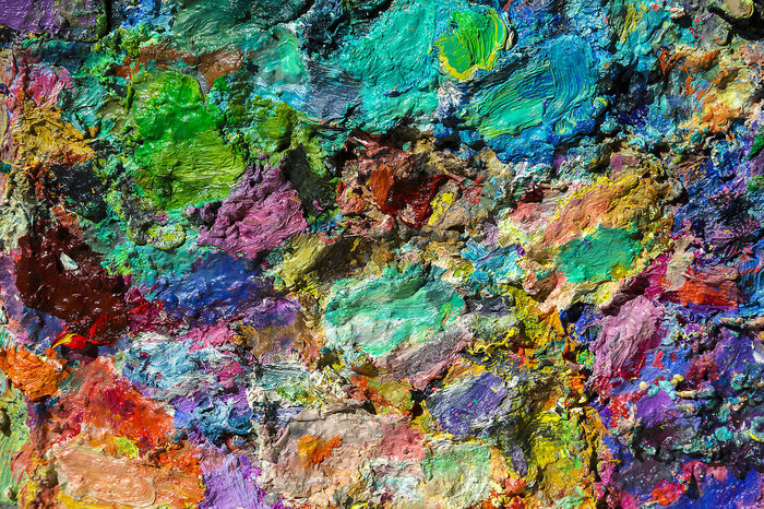 Range of Colors Artist Collorfull Color Palette Multi Colored No People Oil Colour Oil Painting Range Of Color