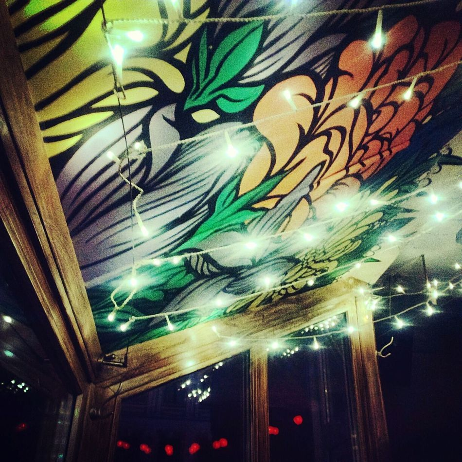 Great Atmosphere Partying Hard Kyiv Bar Ukraine Last Drink, I Promise Lights Light And Shadow