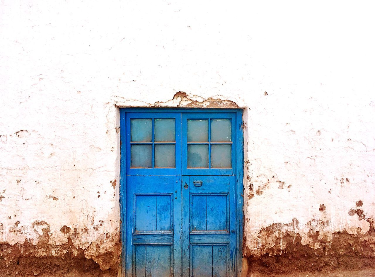 Beautiful Doors of South America Blue Chile Contrast Desert