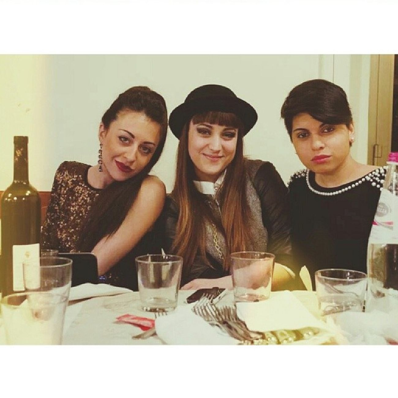 Vintage Style Three Girls Dinner Party