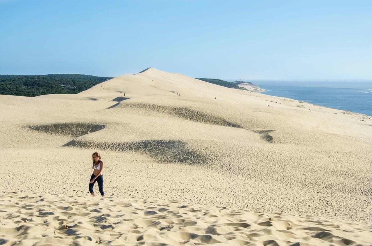 Beach Woman Summer Landscape France Nikon Today's Hot Look Dune Du Pyla People Vacation Only Women Walking Landscapes Alone Solitude Tourism Tourist
