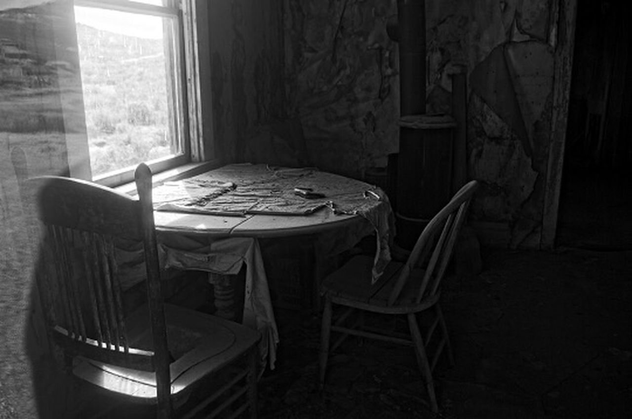 chair, indoors, table, window, no people, home interior, day