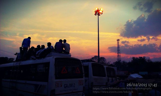 Catching A Bus Popular Photos Incredibleindiaofficial Hello World Nature complementing the Busy LifeStyle Of A BusStand. Beautiful Sunset