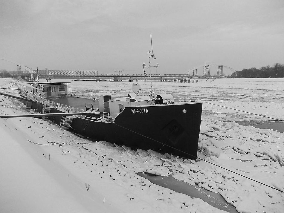Blackandwhite Danube Igor Bartolec Nautical Vessel Outdoors Ship Winter