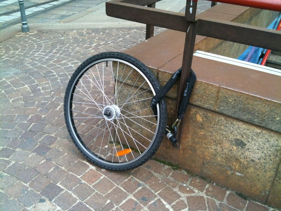 Bicycle Bike Chain City City Street Mode Of Transport Transportation Wheel Without Words Without Words!