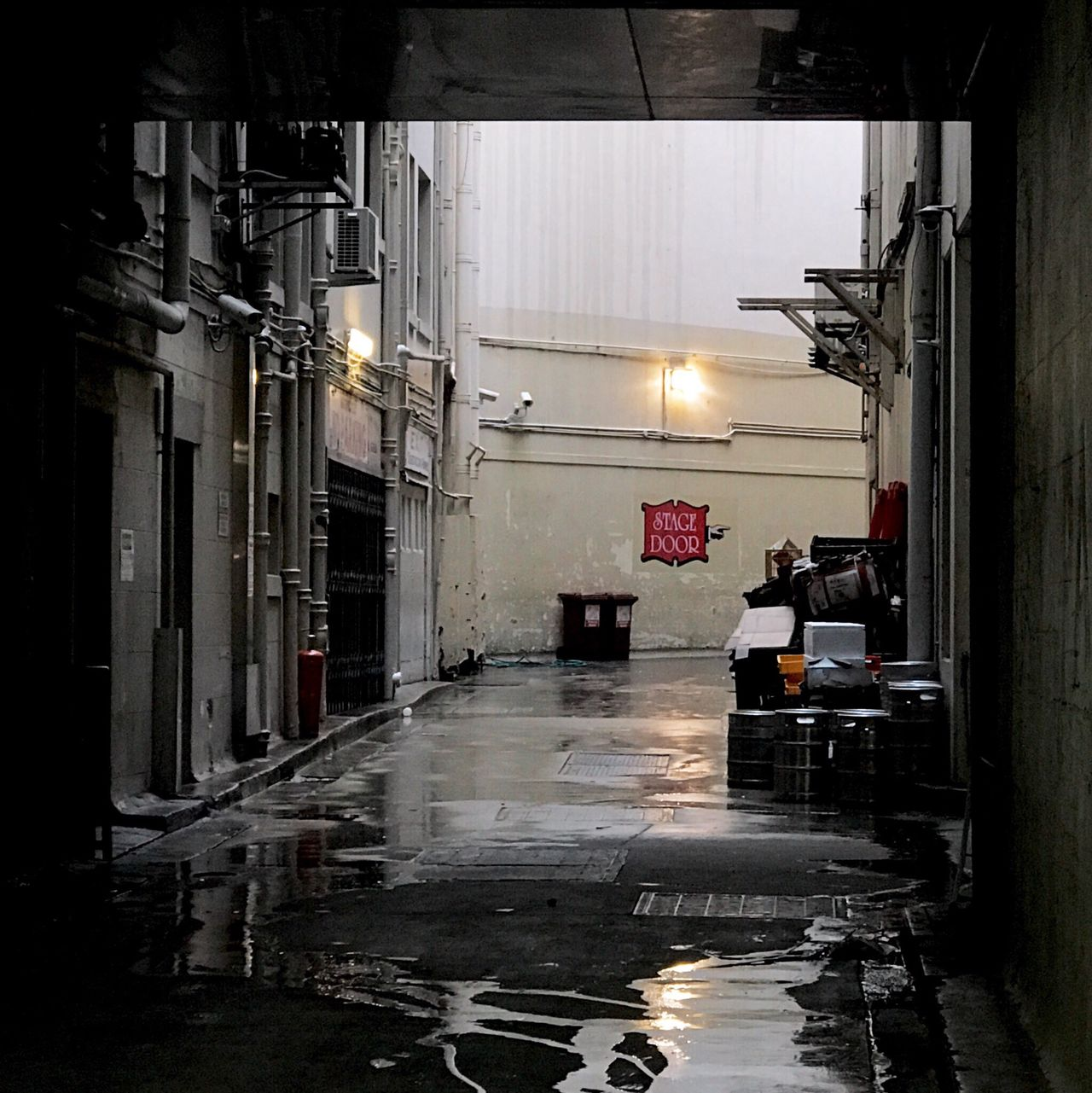 Night Illuminated City Indoors  No People Architecture Alley Alleyway