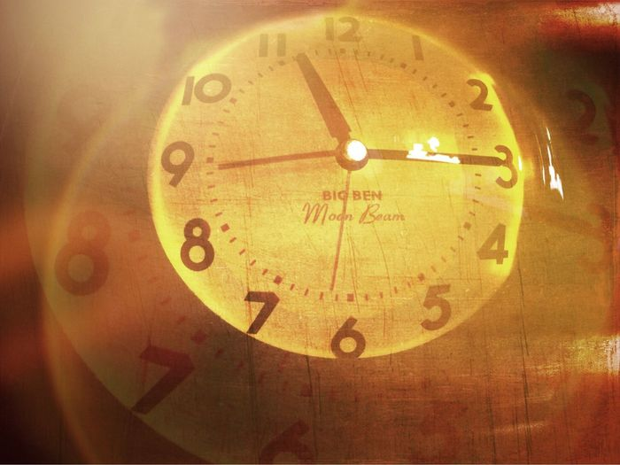 Every Moment in Time is Elastic Double Exposure Texture Light Leak Hotel Clock Reimagined IPhoneography