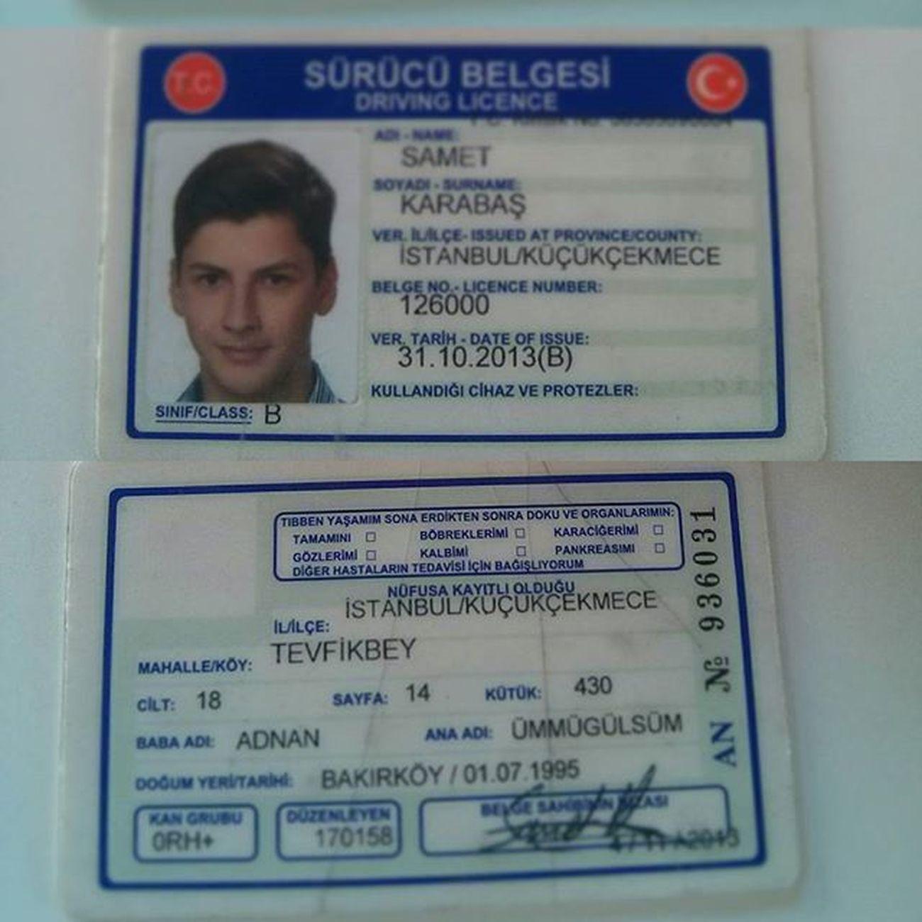 Ehliyetimi kaybettim hükümsüzdür. Bulana dondurma alcam hatta iftar yaparız lan söz 😀Ehliyet Sürücübelgesi Kayıp Sefaköy