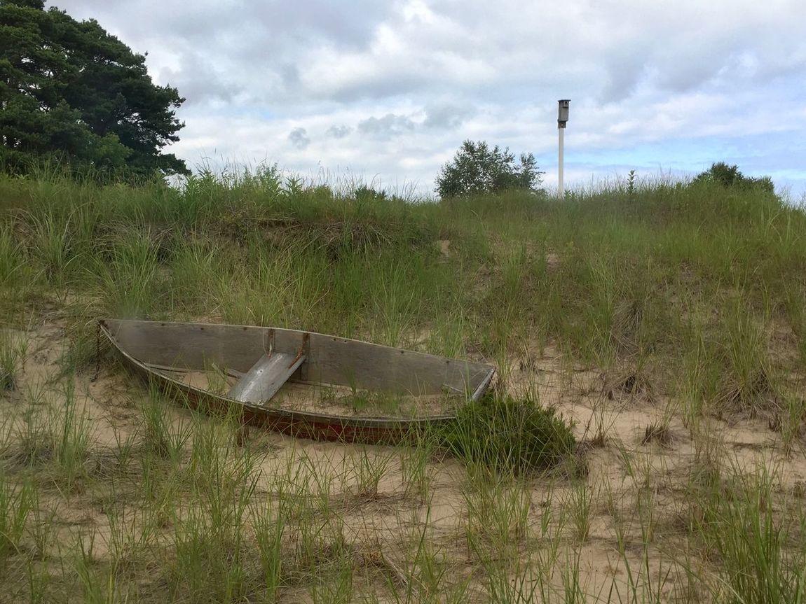 Dry Docked Boat Lake Michigan Door County, Wisconsin