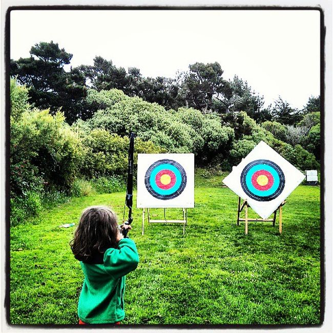 Logansfun archer? Day after his 8th bday.