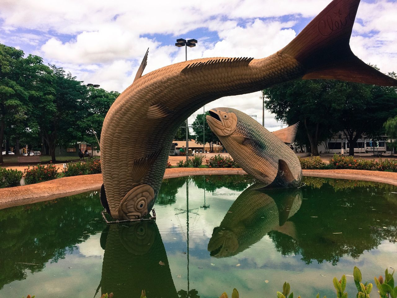 Bonito-ms Water Sky Outdoors Animal Themes Leisure Activity Day Tree Real People Cloud - Sky Vacations Nature Mammal Escultura Esculpture Bonito-MS Brazil Brazil