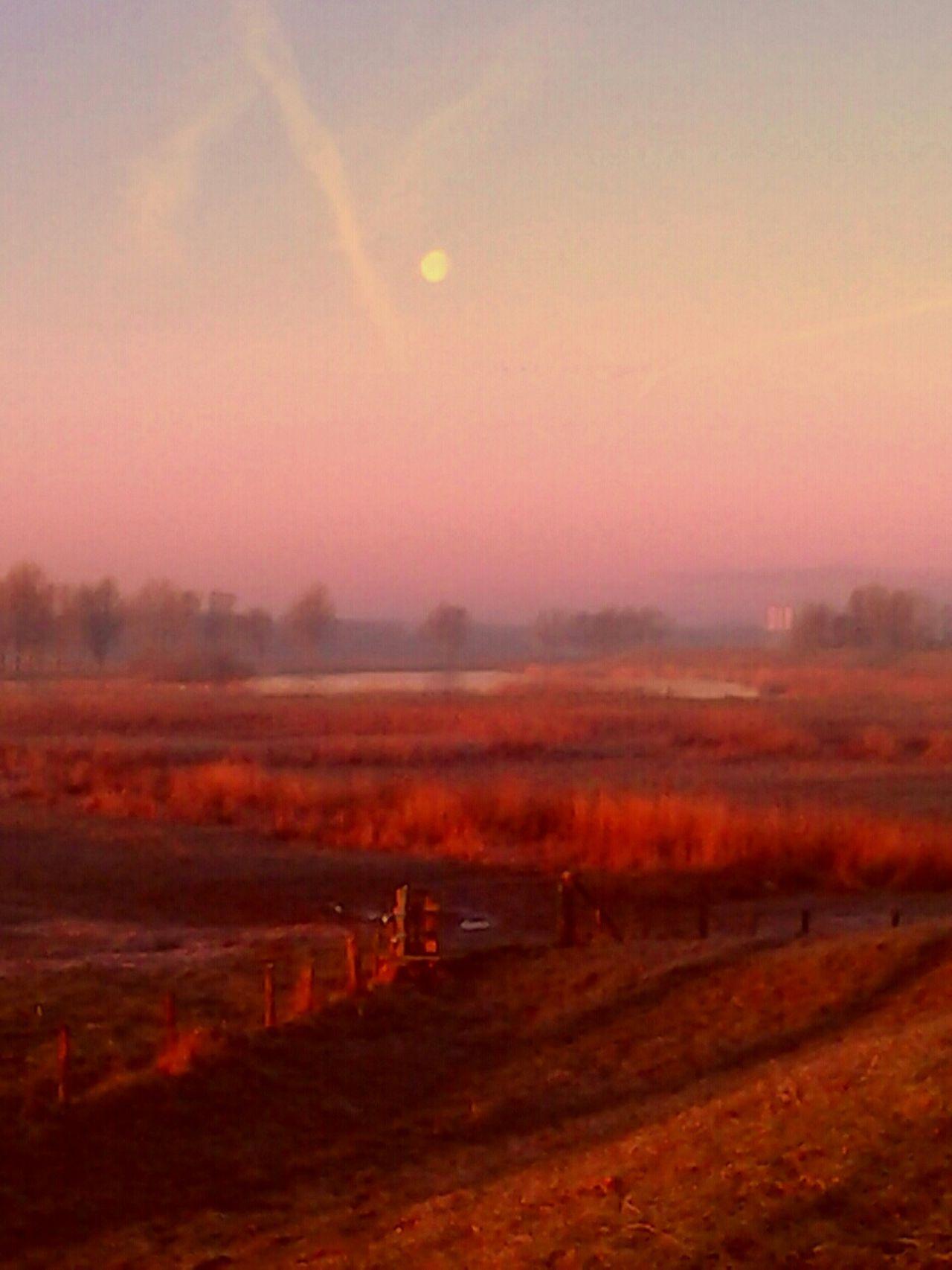 Early Winter Sunrise & Full Moon