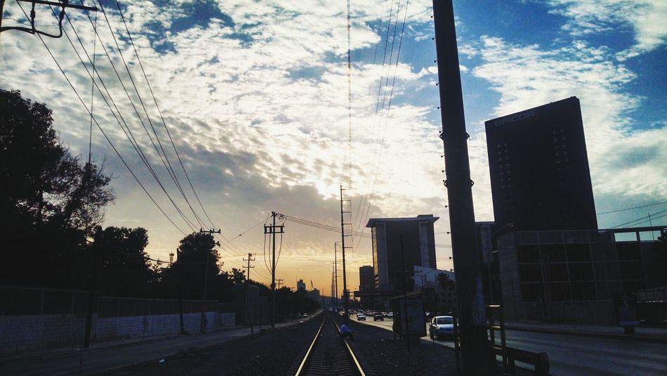 Have a nice Saturday. Sky Clouds Train Landscape