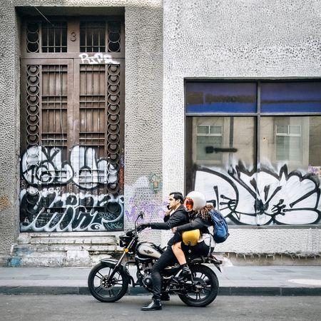 Guy and girl Street Photography Photography Mexico City Mexico Motorcycle City Life