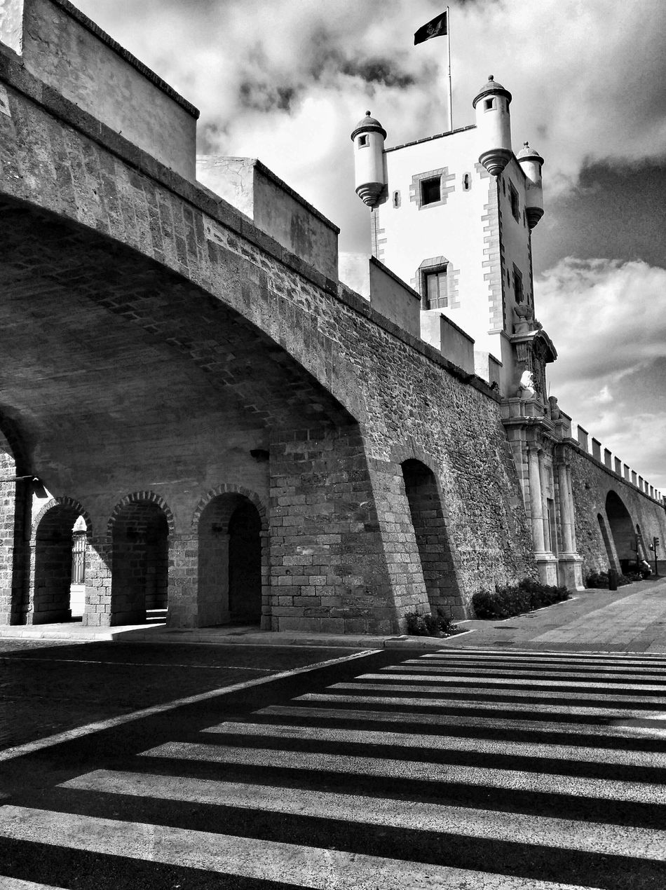 Black And White Massive Fortress Stone Wall Perspectives And Dimensions
