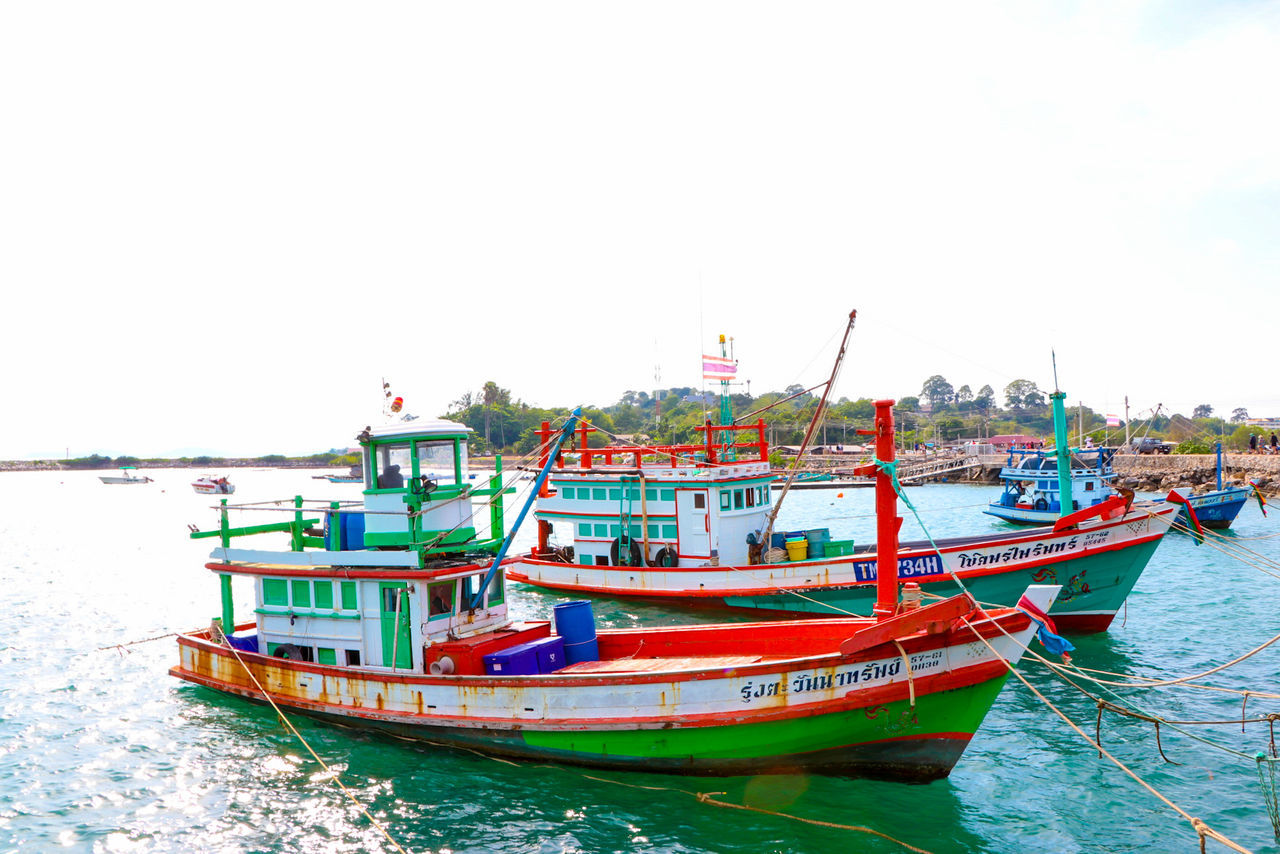 nautical vessel, mode of transport, transportation, water, boat, sea, moored, waterfront, day, nature, outdoors, no people, clear sky, beauty in nature, scenics, sky, horizon over water