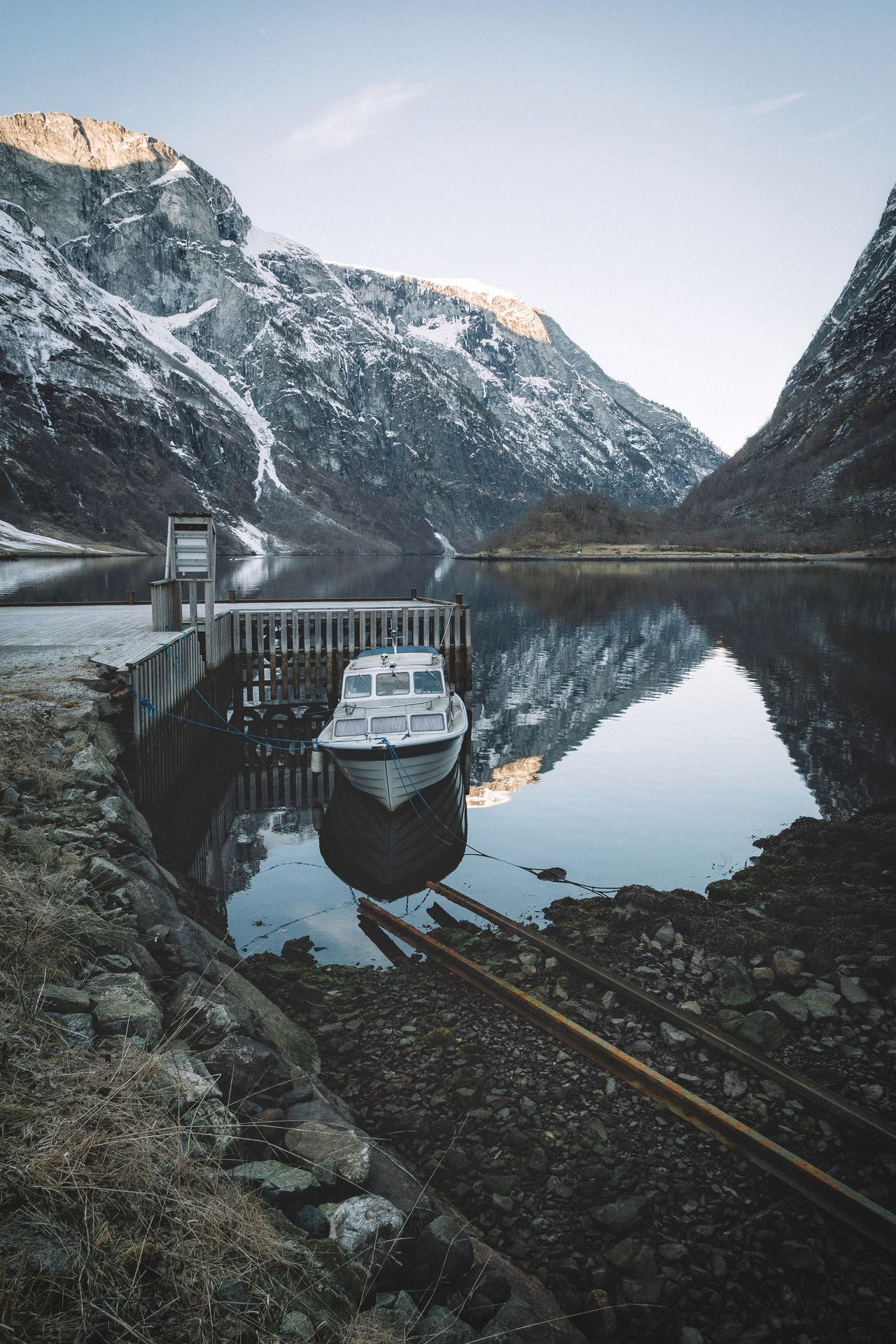 Boat Norway Explore Outdoors Vscocam EyeEm Best Shots Roadtrip Travel Rural Fjords Power In Nature Landscape Mountains Nature Exploring Winter Fresh on Market April 2016 The Great Outdoors - 2016 EyeEm Awards