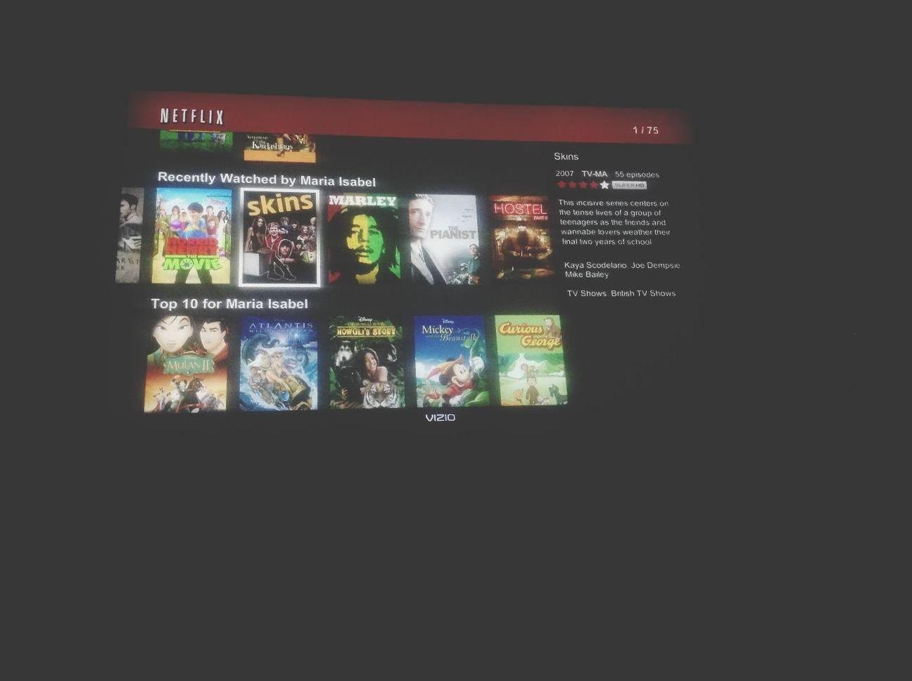 Watching Skins on Netflix