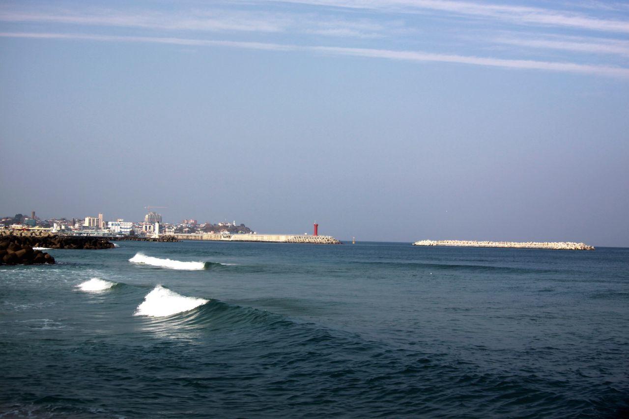 강릉 Gangreung East Sea Coast Jumunjin Nature Beach No People