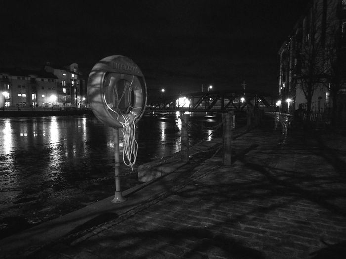 Night Edinburgh The Shore  Leith Lifering Night Illuminated Arts Culture And Entertainment Water Outdoors Sky No People