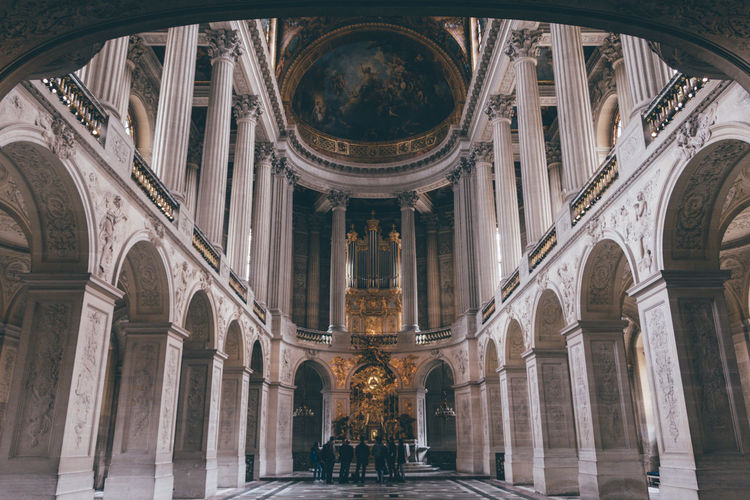 Arch Architecture Built Structure Ceiling City Columns Day France History Indoors  Low Angle View No People Palace Of Versailles Travel Destinations Versailles