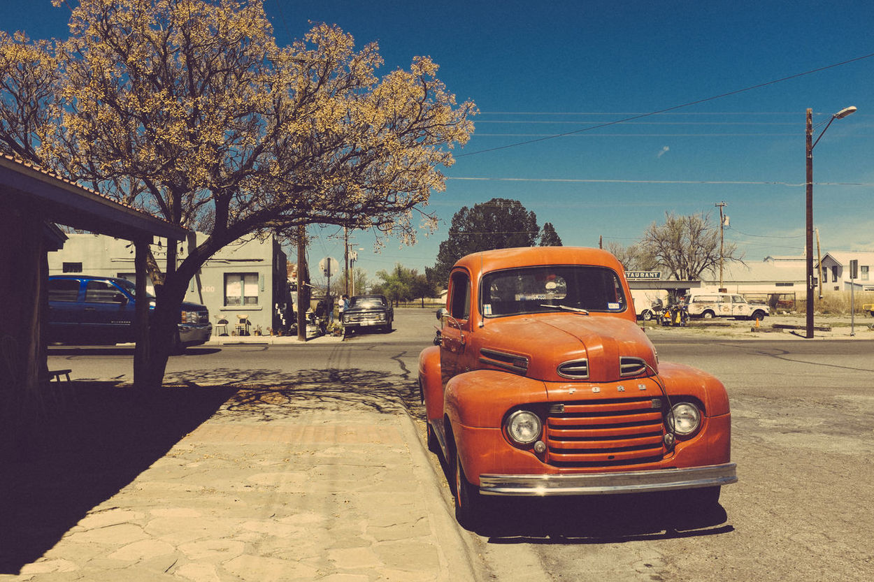 Where time stops. Marfa, West Texas Car Ford Truck Marfa Texas Old Car Road Trip Travel Travel Destinations Travel Photography West Texas Miles Away