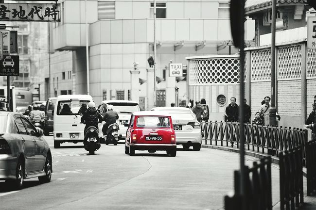 Things I Like ...first is Mini Cooper HongKong Hongkongstreet Red Taking Photos Popular Photos EyeEm Best Shots EyeEm Gallery Carporn Black And White Black And White Photography Hello World
