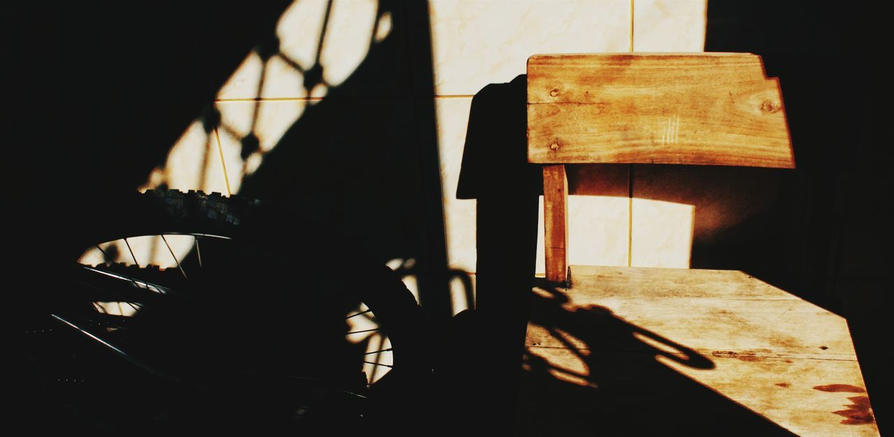 My Favorite Place Focus On Shadow Shadow Sunlight Day Lastsummerdays No People Chairswithstories Chair Warmth Bright Day