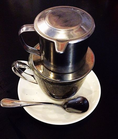 Coffee Coffee At Home Coffee Time Coffee ☕ Spoon Coffee - Drink Coffee Cup Cup Metal Table Vietnamese Coffee