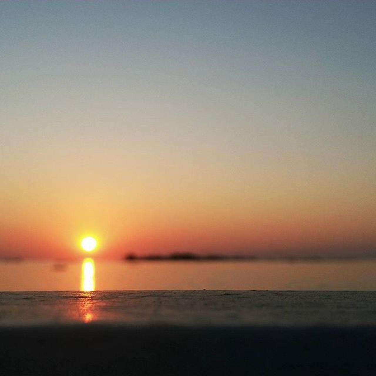 Sunset Outfocus Losari Beach Makassar-Indonesia