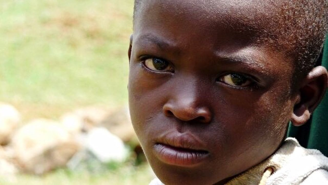 Human Face Cultures Human Head Facial Expression Portrait Human Body Part One Person Social Issues Human Eye People Outdoors Close-up Grief Children Kenya