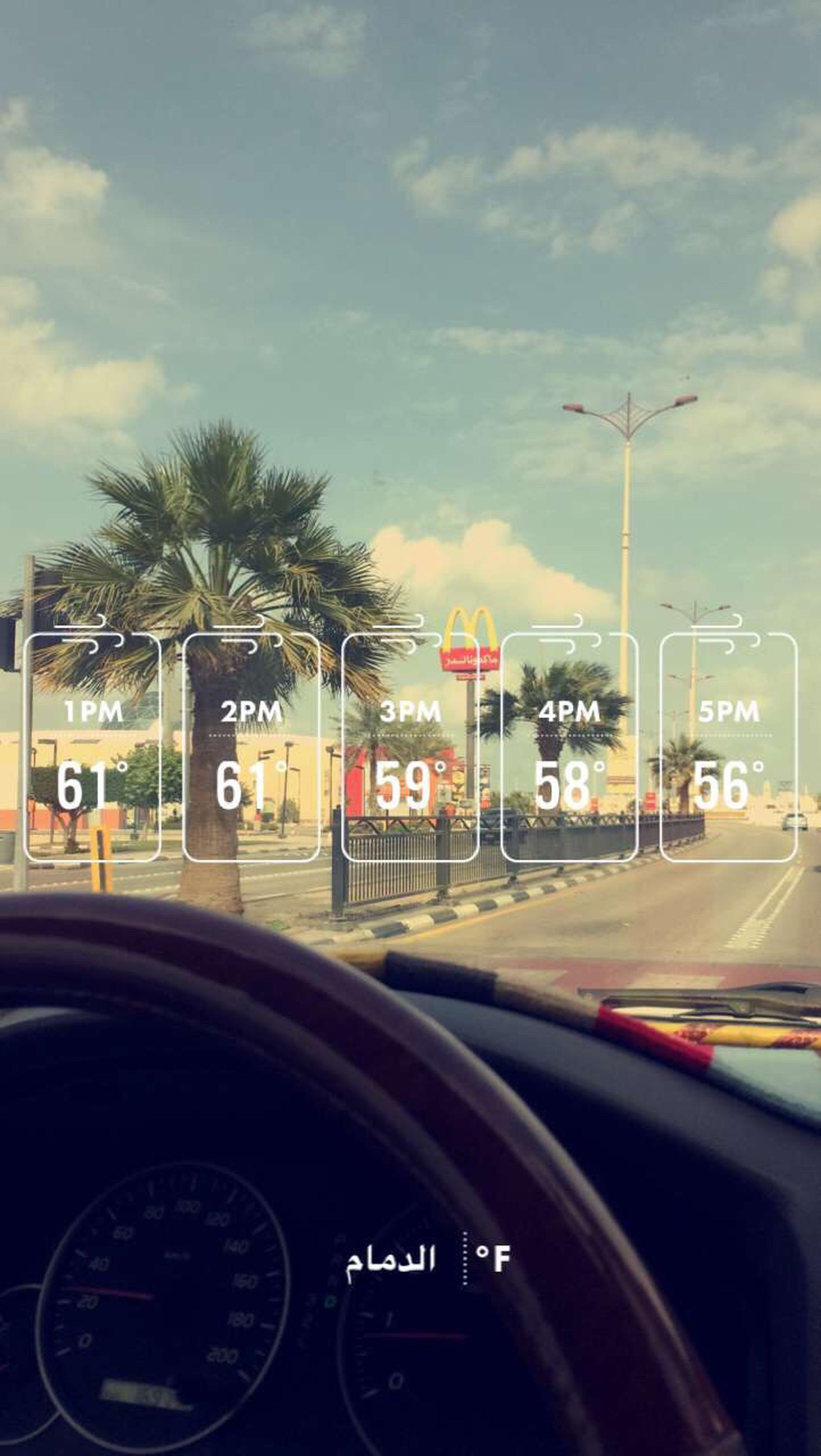 car, transportation, travel, cloud - sky, sky, tree, street light, mode of transport, road, no people, palm tree, day, outdoors, vehicle mirror