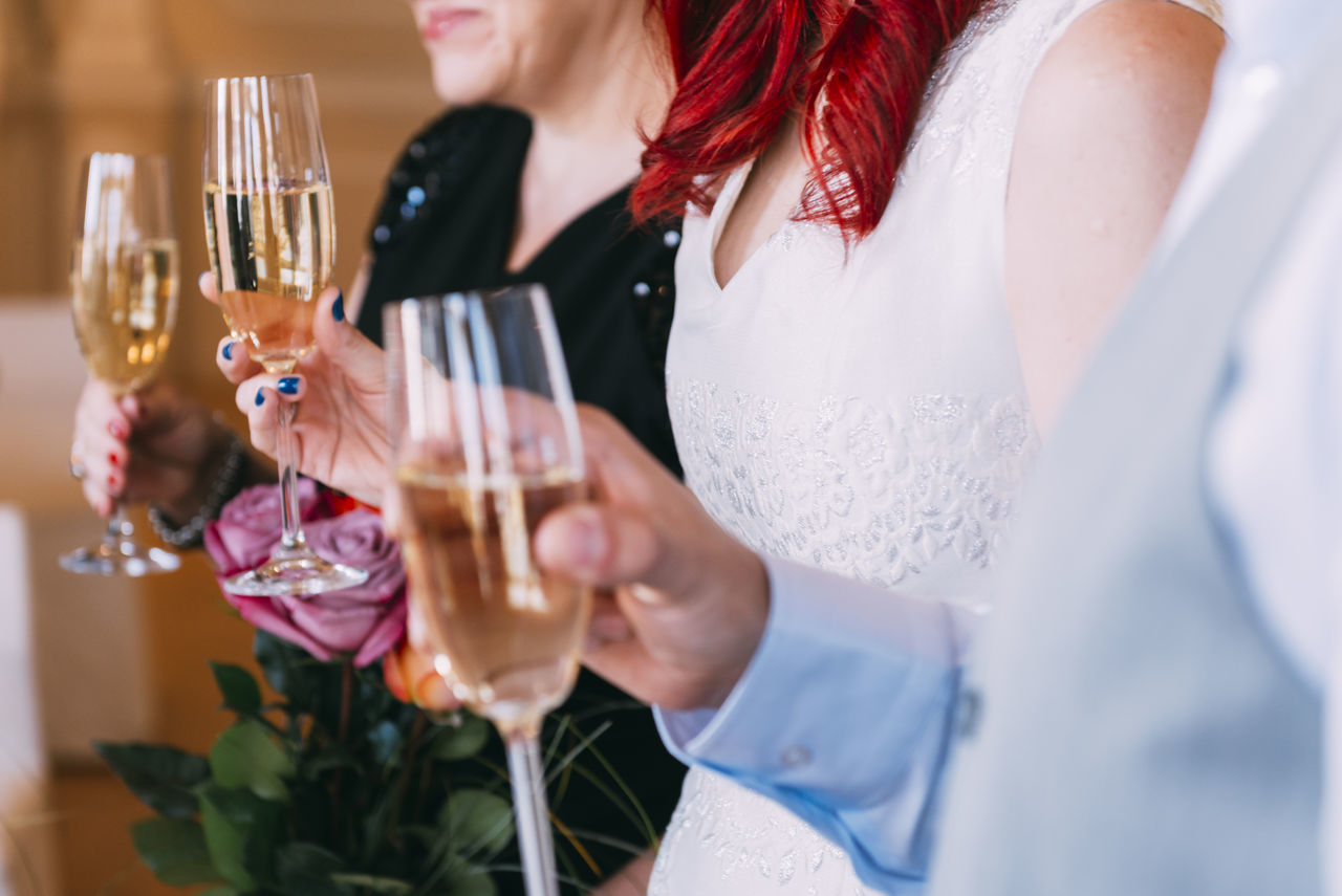 Beautiful stock photos of wedding, holding, indoors, midsection, person