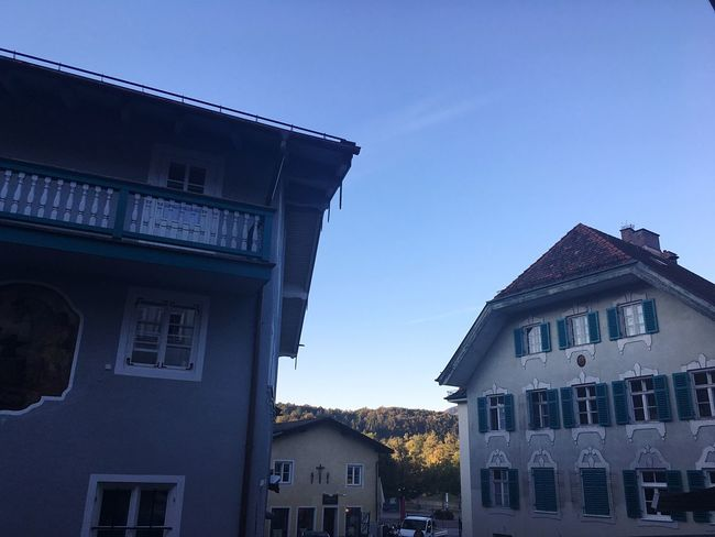 Bavarian City Bad Tölz Upper Bavaria Cityscapes Bavarian Impressions Bavarian Cityscapes Built Structure Light And Shadows Nature And City City And Nature Nature In The City Architecture Low Angle View Residential Building (null)Residential Structure Façade No People City Life Good Morning