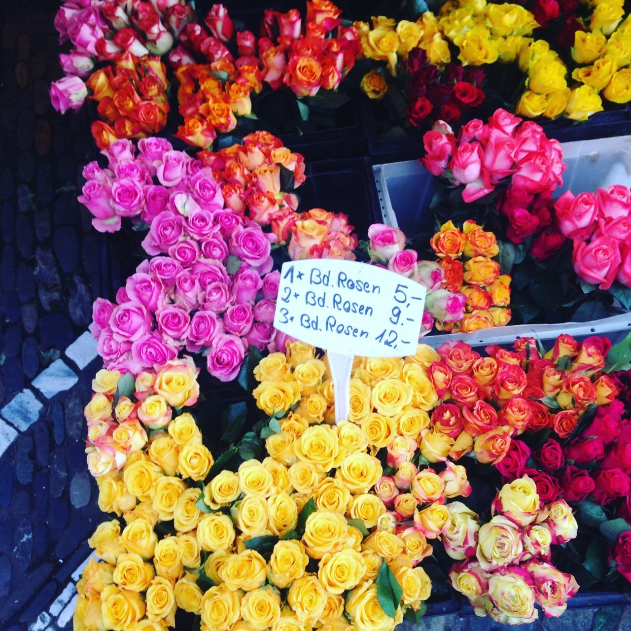 Flower Freshness Variation Abundance Choice Multi Colored Vibrant Color Price Tag Retail  Flower Shop For Sale Bouquet Market Flower Market Market Stall Gift No People Fragility Beauty In Nature Close-up