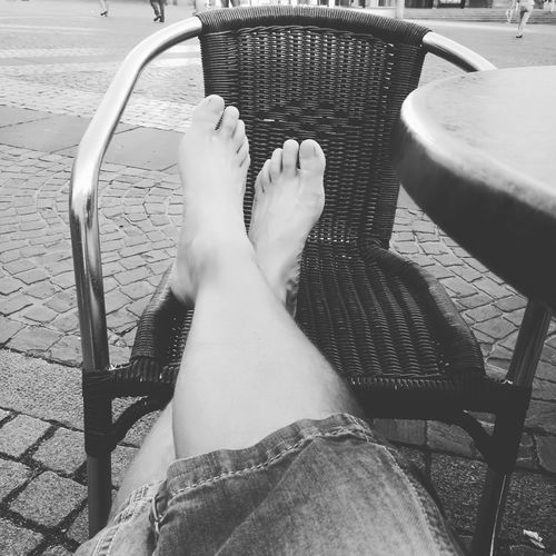 Human Leg One Person Human Body Part Personal Perspective Real People Outdoors Lifestyles Relaxation People Human Foot