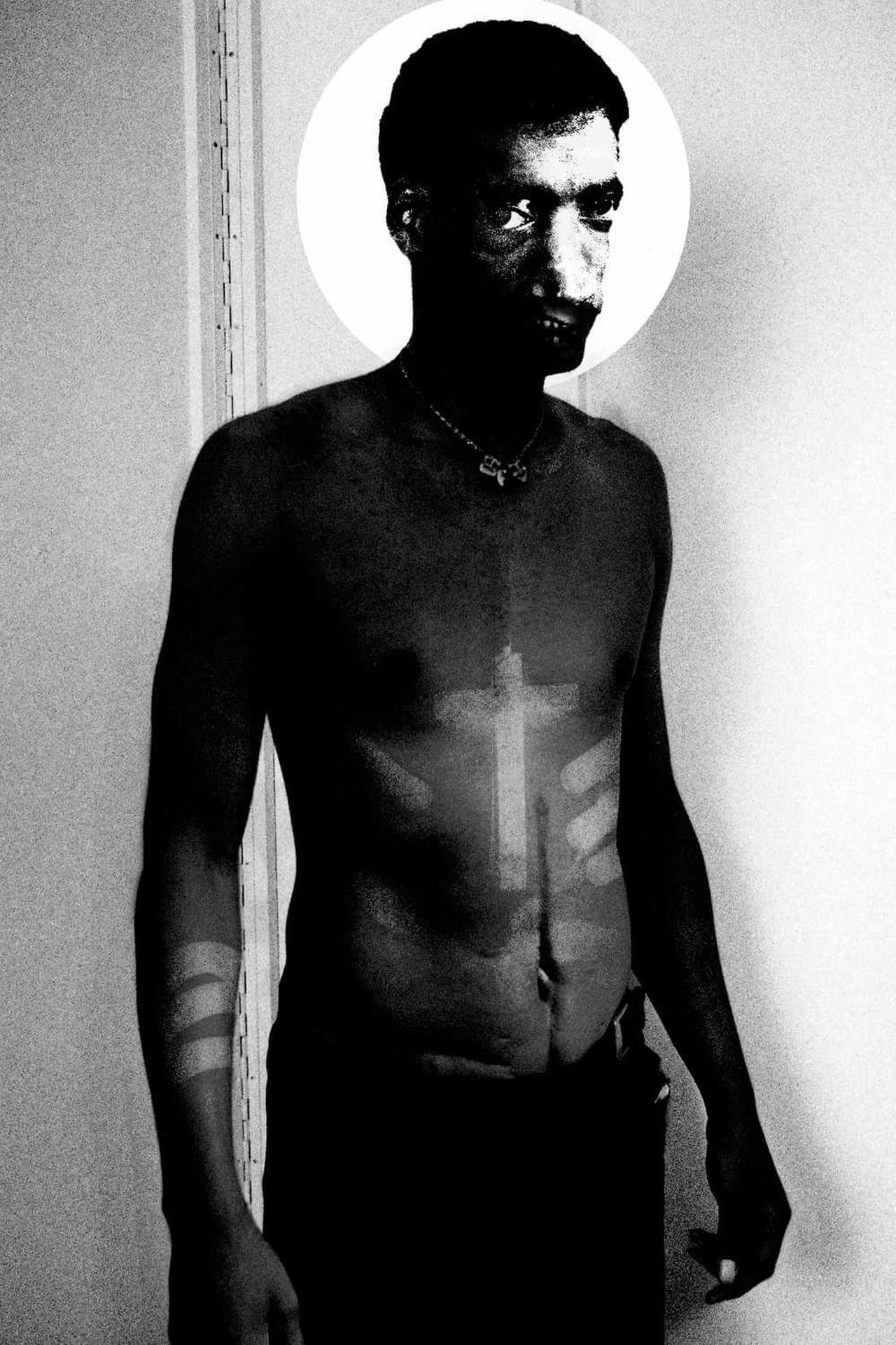 Blackandwhite Art Composition Weird Vintage Abstract Monster Portrait