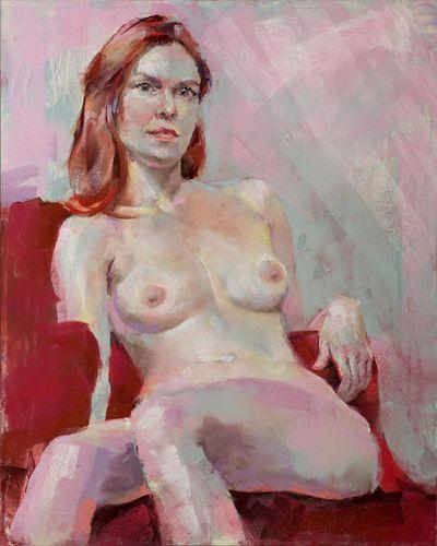 Pastel figure Art Drawing Creative Model www.johnmarkese.com