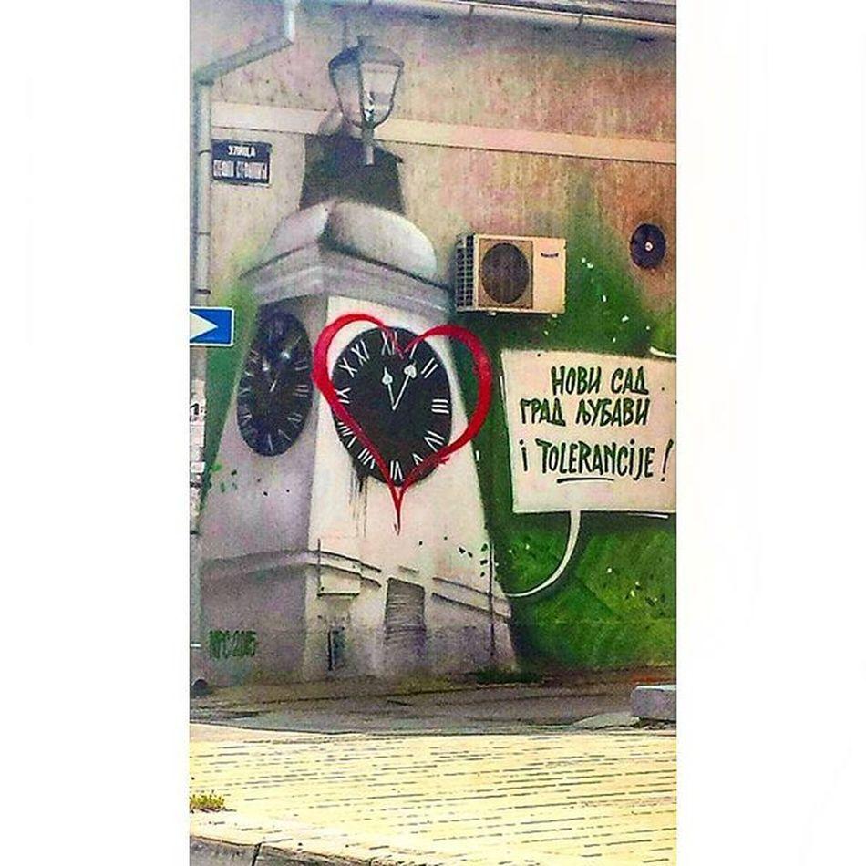 """"""" Novi Sad City ofLove and Tolerance ."""" Graffiti of Novisad Streetsofnovisad Art on Walls Graffitiart Artstreet Streetartwork Streetart Wallart Novi_Sad Visitnovisad Petrovaradinfortress"""