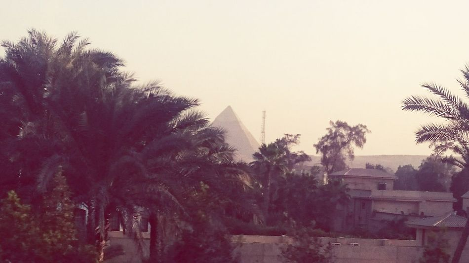 Giza Beauty In Nature Architecture Sky MobilphotograpyCairobeauty Built Structure Outdoors Day Clouds Adult History No People Nature Cairo Mobilephotography