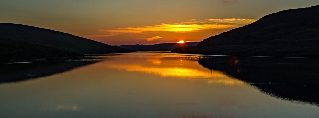 Sunset at Voe, Shetland. Beauty In Nature Landscape Nature Olna Firth Reflection Scotland Shetland Sunset Tranquility Water