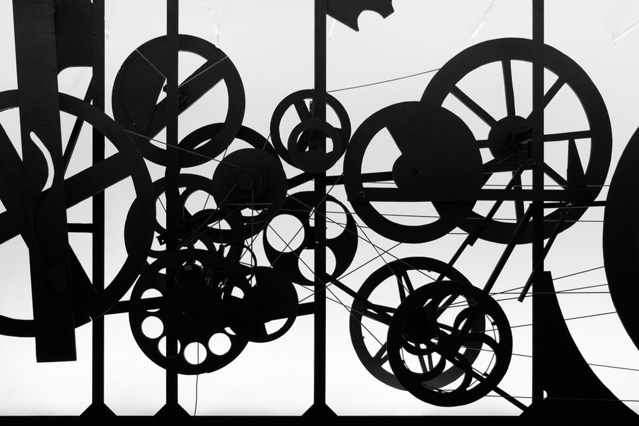 Jean Tinguely (22 May 1925 – 30 August 1991) was a Swiss painter and sculptor. He is best known for his sculptural machines or kinetic art, in the Dada tradition; known officially as metamechanics. Tinguely's art satirized the mindless overproduction of material goods in advanced industrial society. Art Artist Exhibition Kinetic Mechanic Museum Sculpture Shadow Tinguely