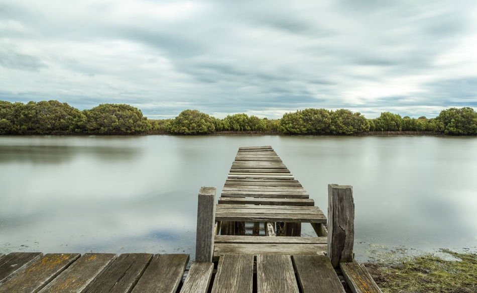 Watch your Step All Alone Alone I Stand . Bridge To Nowhere Cloud - Sky Direction End Of The Line Jetty Landscape Long Exposure Mangrove No Barriers No People Old Timber Peaceful Relaxation Repairs Needed Standing The Test Of Ti Tranquility Watch Your Step Weathered Wood - Material